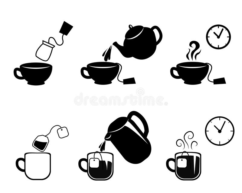 Anweisung der Herstellung des Tees lizenzfreie abbildung