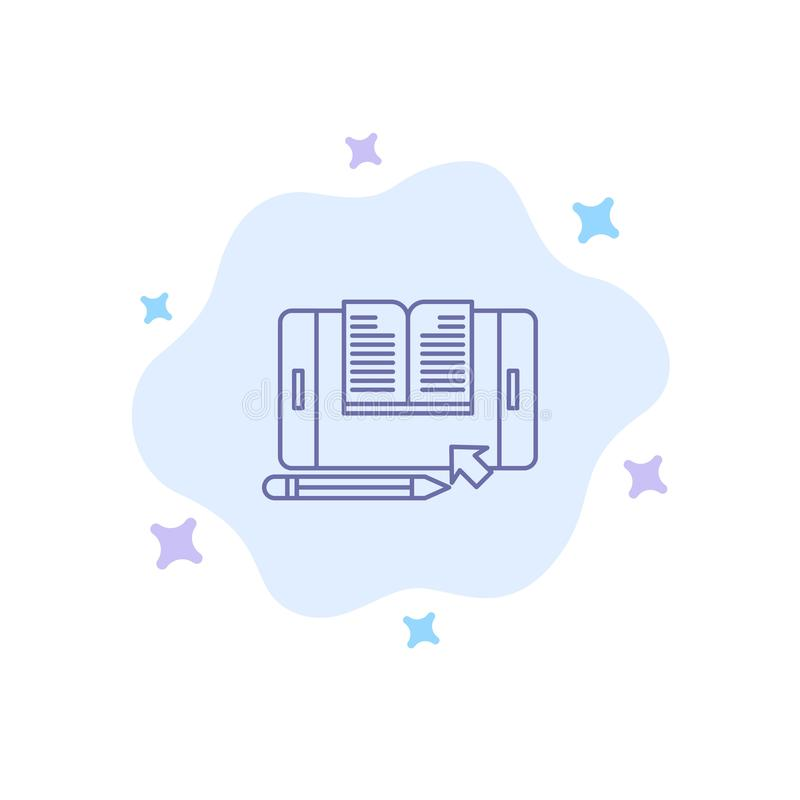 Anwendung, Datei, Smartphone, Tablet, Übergangsblaue Ikone auf abstraktem Wolken-Hintergrund stock abbildung