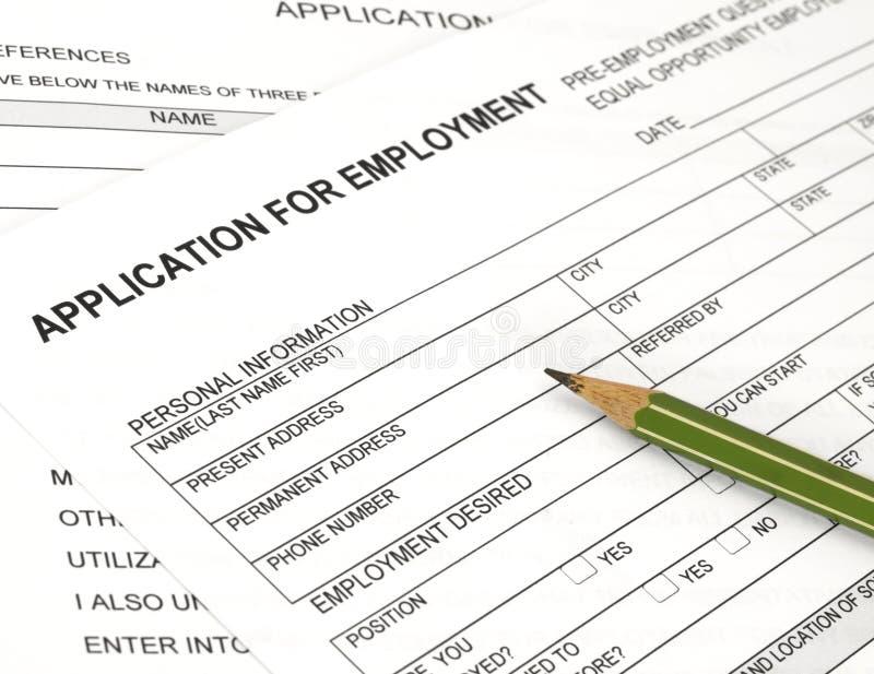 Anwendung für Beschäftigung lizenzfreies stockbild