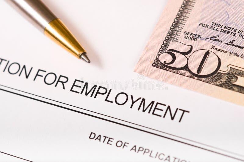 Anwendung für Beschäftigung stockbild