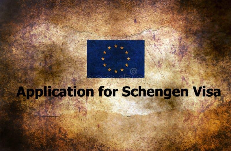 Anwendung für Schengen-Visumsschmutzkonzept lizenzfreie stockfotografie