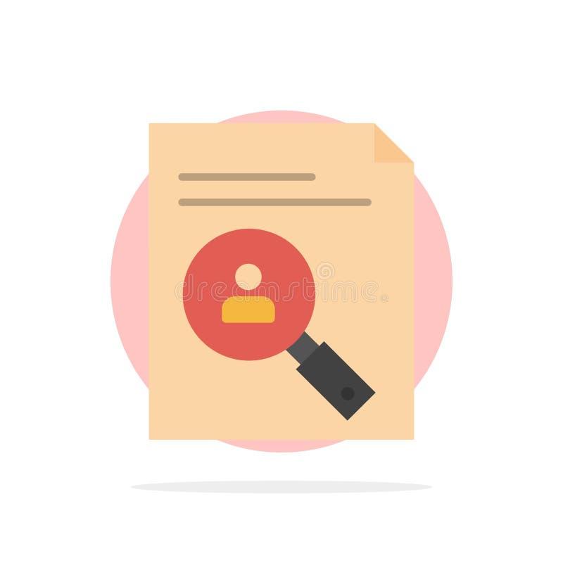 Anwendung, Klemmbrett, Lehrplan, Lebenslauf, Zusammenfassung, flache Ikone Farbe des Personal-Zusammenfassungs-Kreis-Hintergrunde lizenzfreie abbildung