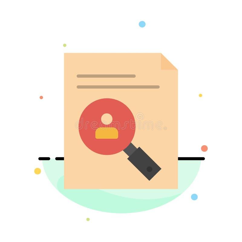 Anwendung, Klemmbrett, Lehrplan, Lebenslauf, Zusammenfassung, Personal-Zusammenfassungs-flache Farbikonen-Schablone lizenzfreie abbildung
