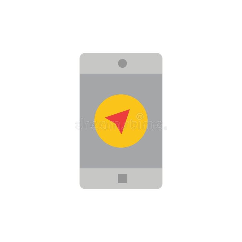 Anwendung, Mitteilung, mobile Apps, poniter flache Farbikone Vektorikonen-Fahne Schablone vektor abbildung
