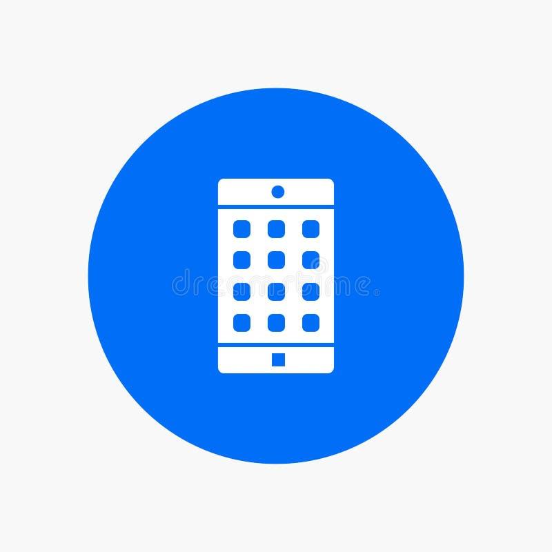 Anwendung, Mobile, bewegliche Anwendung, Passwort lizenzfreie abbildung