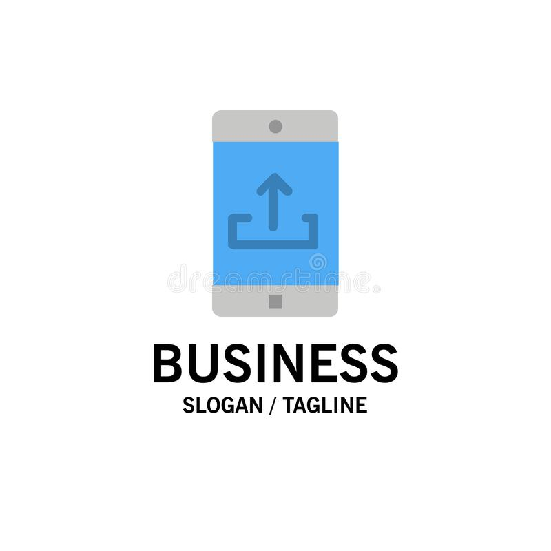 Anwendung, Mobile, bewegliche Anwendung, Smartphone, Antriebskraft-Geschäft Logo Template flache Farbe vektor abbildung