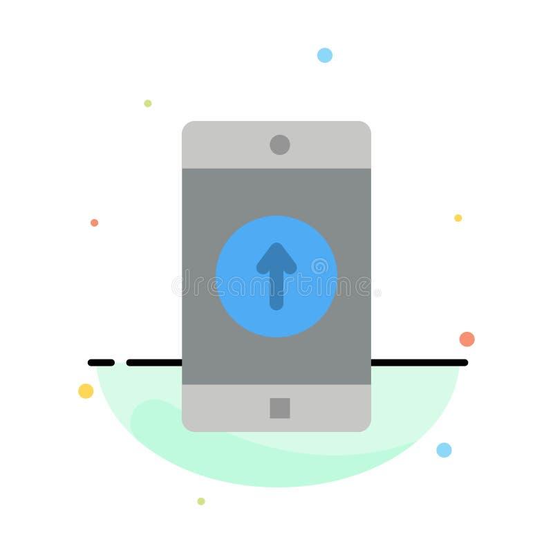 Anwendung, Mobile, bewegliche Anwendung, Smartphone, sendete abstrakte flache Farbikonen-Schablone stock abbildung
