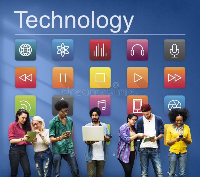 Anwendungs-Verbindungs-Digital-Internet-Grafik-Konzept lizenzfreies stockfoto