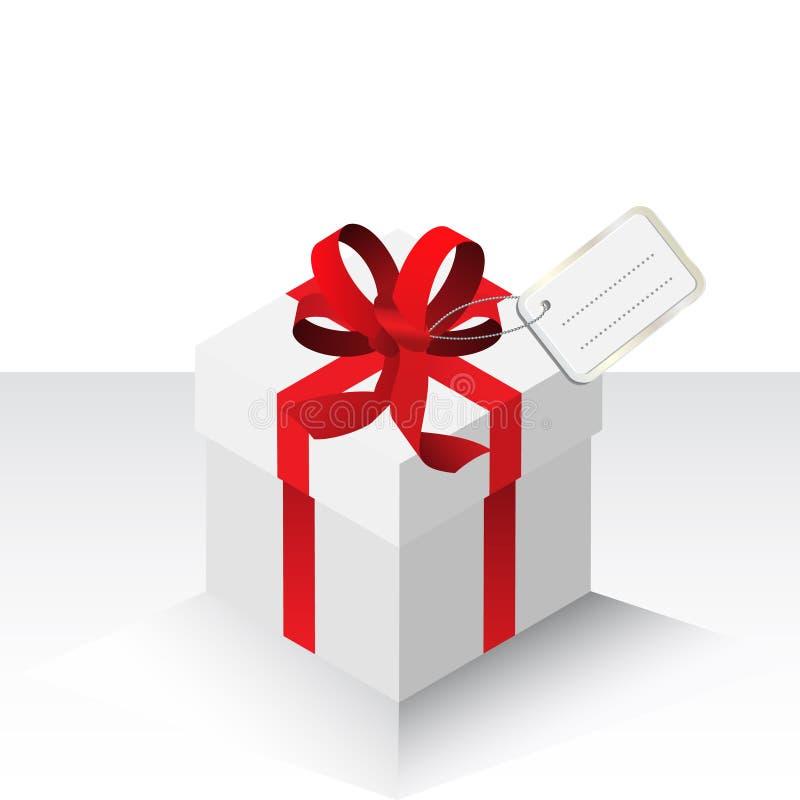 Anwesendes Geschenk mit rotem Bogen lizenzfreie abbildung