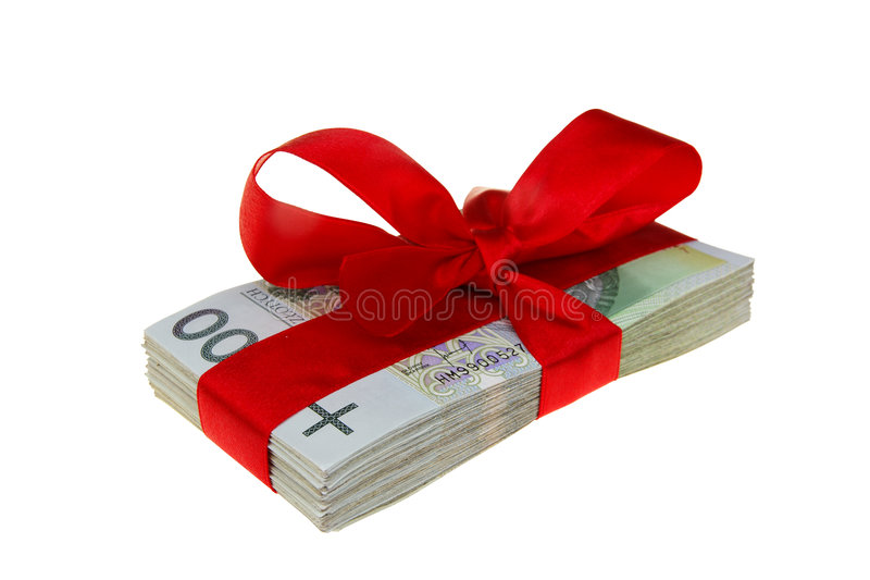 Anwesendes polnisches Geld lizenzfreies stockbild