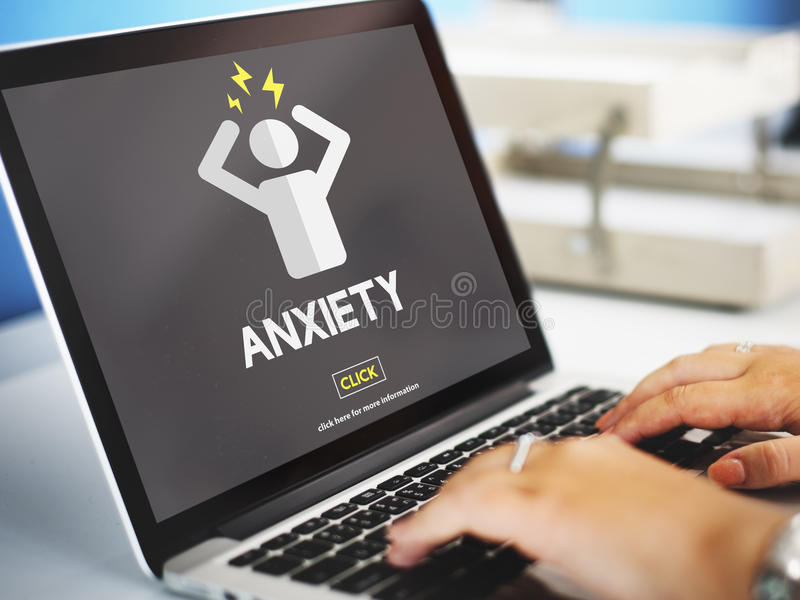 Anxiety Angst Disorder Stress Tension Concept.  royalty free stock images