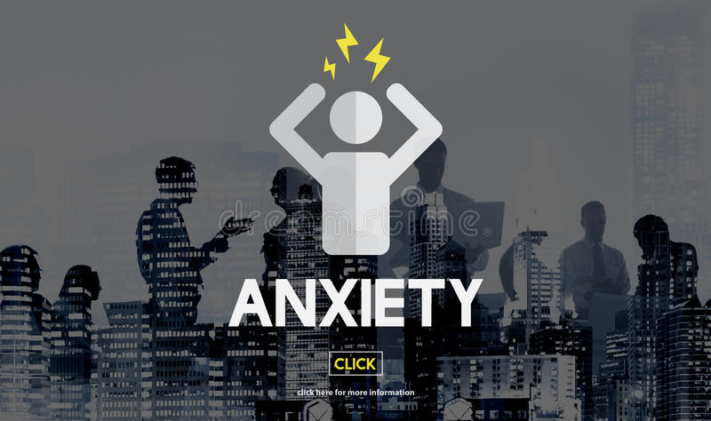 Anxiety Apprehension Medicine Nervous Panic Concept royalty free stock photography