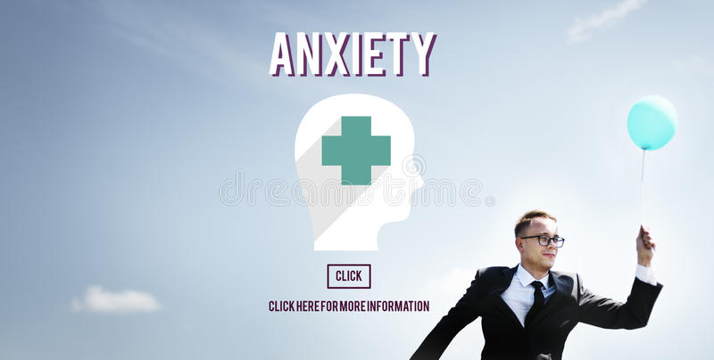 Anxiety Disorder Apprehension Medical Concept. Business People Looking Medical Anxiety Disorder Apprehension stock images