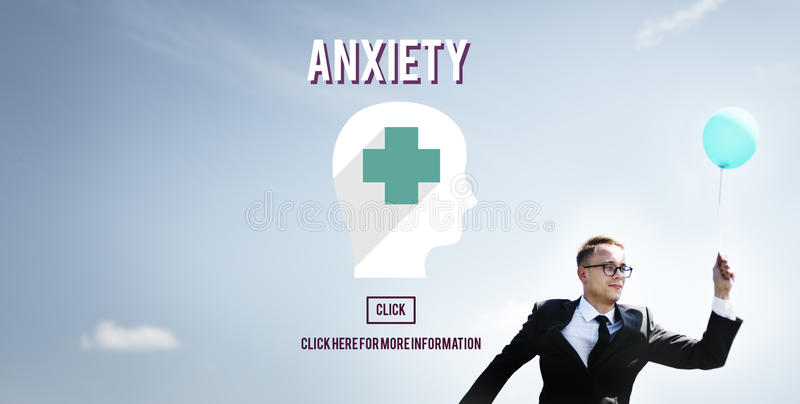 Anxiety Disorder Apprehension Medical Concept. Businessman Enjoying Inspired Outdoors Concept stock photo