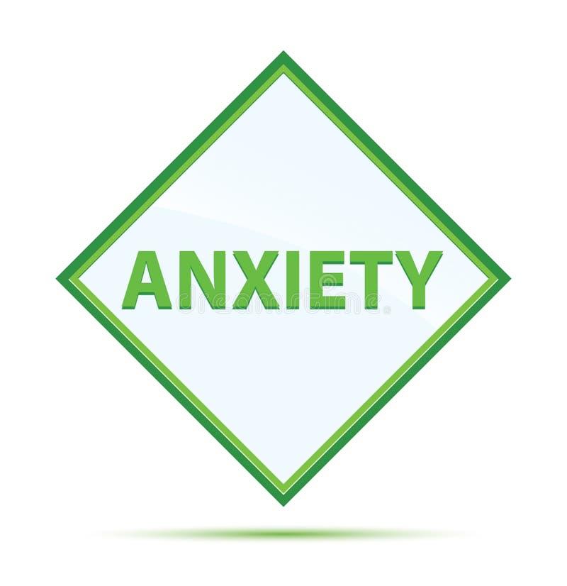 Anxiety modern abstract green diamond button. Anxiety Isolated on modern abstract green diamond button vector illustration