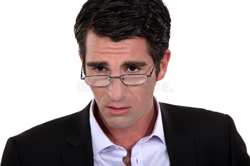 An anxious businessman. royalty free stock photography