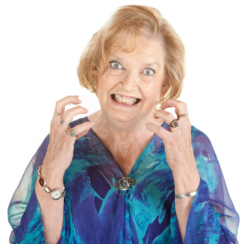 Anxious Senior Woman royalty free stock image