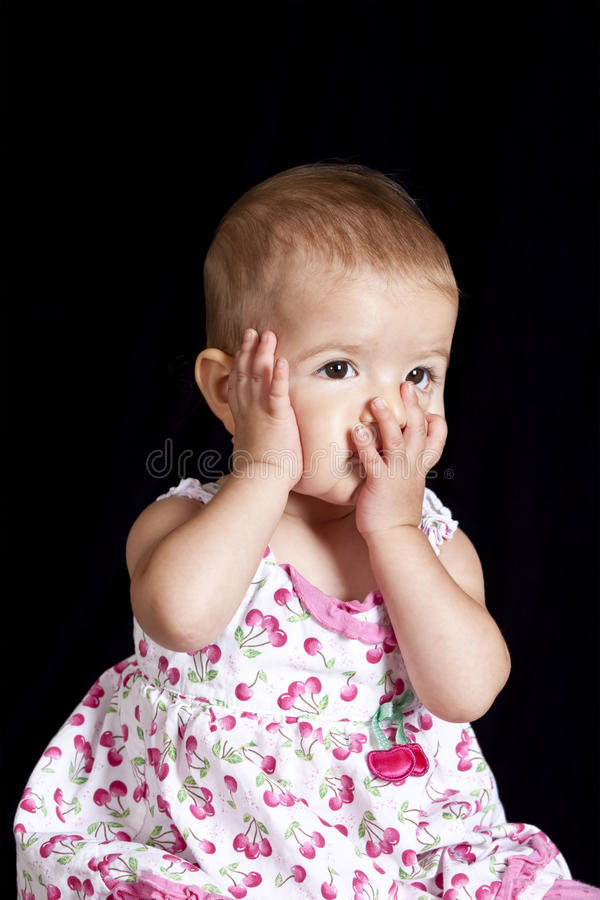 Anxious Or Tired Baby Royalty Free Stock Photo