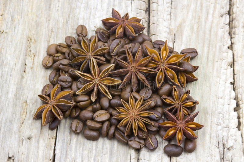 Anyżowe i kawowe fasole zdjęcie royalty free