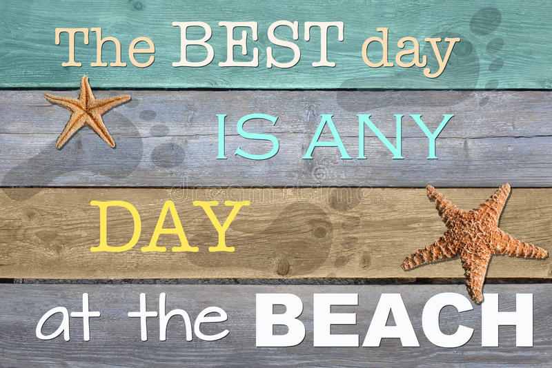 Any day at the beach stock illustration