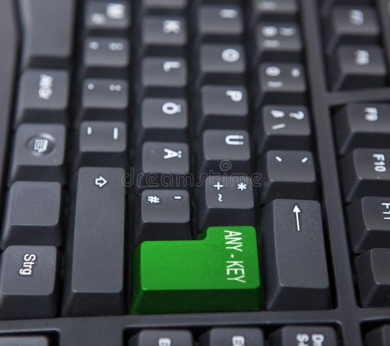 Any Key On Black Keyboard Royalty Free Stock Image