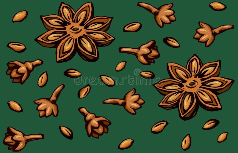 any? rysuje t?a trawy kwiecistego wektora royalty ilustracja