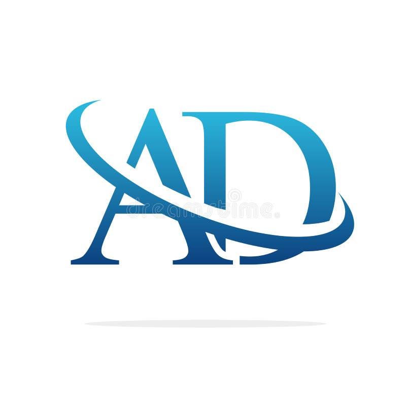AD Creative logo design vector art royalty free stock photos