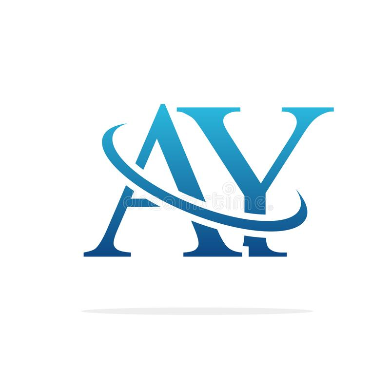 A Y Letter Logo Design. Creative AY Letters Icon Stock