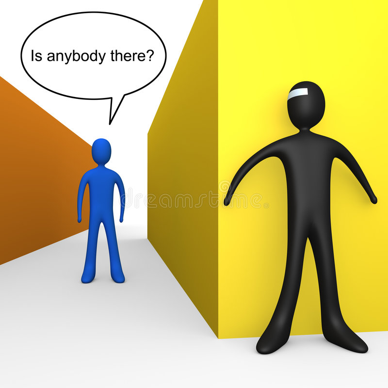 Is Anybody There? Royalty Free Stock Photos
