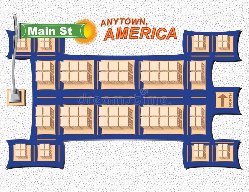 Anytown USA stockfotos