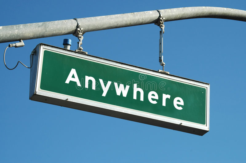 Download Anywhere sign stock photo. Image of street, nowhere, choices - 331806