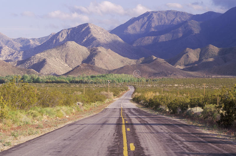 anza borrego加利福尼亚沙漠公园状态 免版税库存图片
