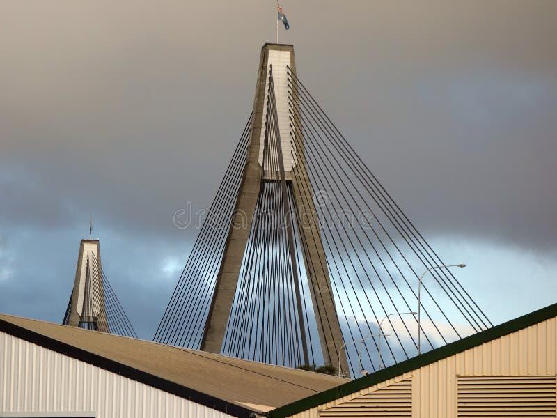 Anzac Brücke, Sydney lizenzfreie stockfotografie