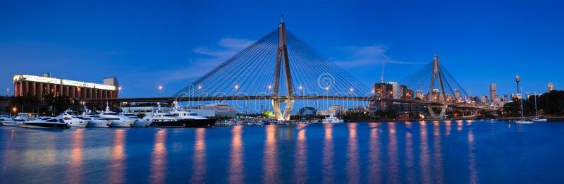 Anzac bridge 45 pan royalty free stock image
