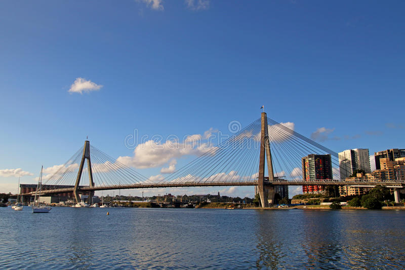 Anzac Bridge photographie stock libre de droits