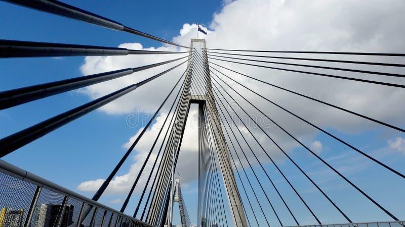 Anzac Bridge en Sydney City, Australie photographie stock