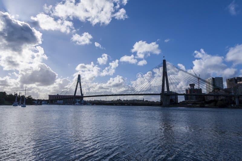 Download ANZAC Bridge editorial photo. Image of sunny, city, blue - 33808101