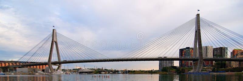 Anzac Bridge sydney images libres de droits