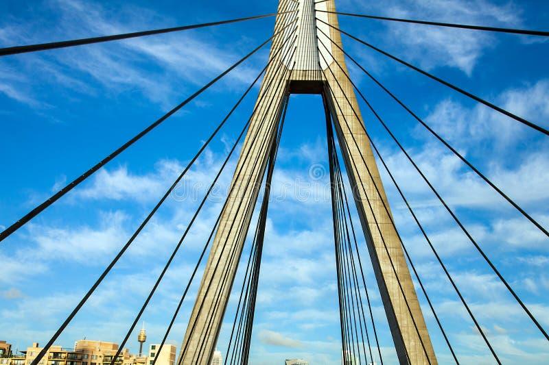 Anzac Bridge Sydney Australia photographie stock libre de droits