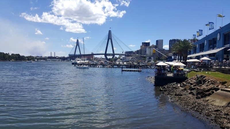 Anzac Bridge, Sydney, Australie images libres de droits