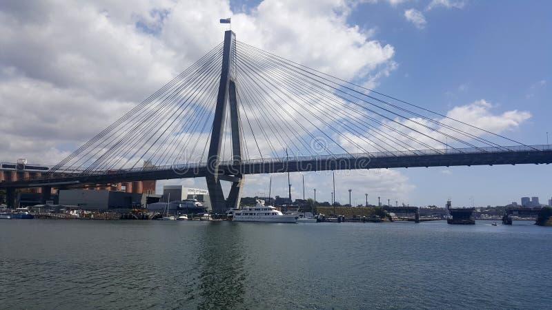 Anzac Bridge, Sydney, Australie image libre de droits