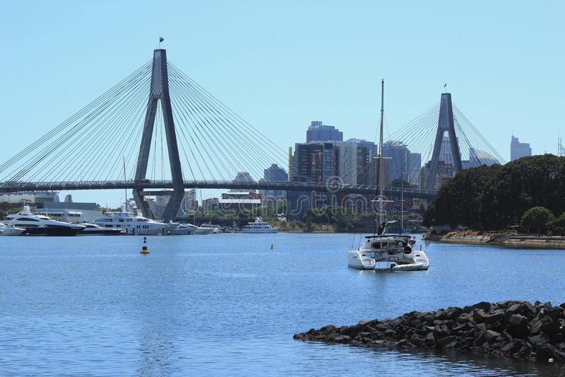 Anzac Bridge, Sydney, Australie photos libres de droits