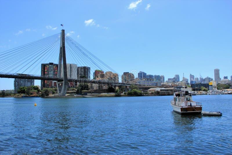 Anzac Bridge, Sydney, Australie photo stock