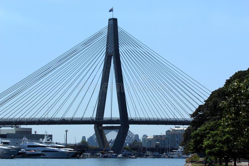 Anzac Bridge, Sydney, Australie images stock