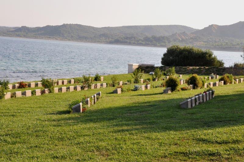 Anzac Burnu Cemetery, Gallipoli, Turquie images libres de droits