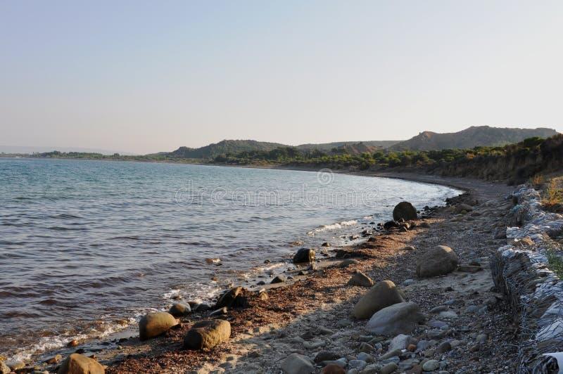 Anzac Cove & Aegian hav, Galllipoli, Turkiet arkivfoton