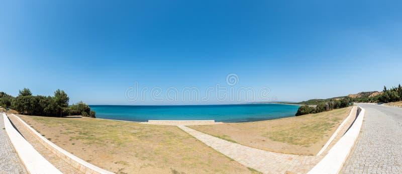 Anzac Cove em Gallipoli em Canakkale Turquia imagens de stock royalty free