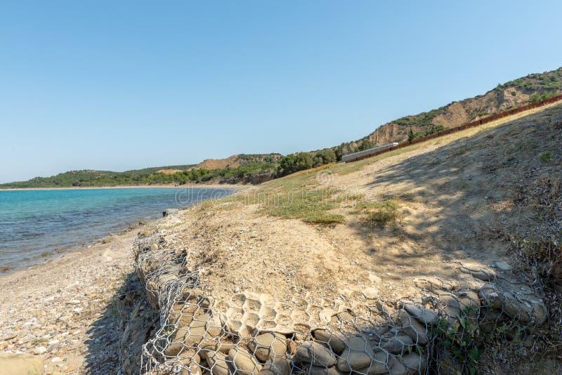 Anzac Cove in Gallipoli bei Canakkale die Türkei stockfotos