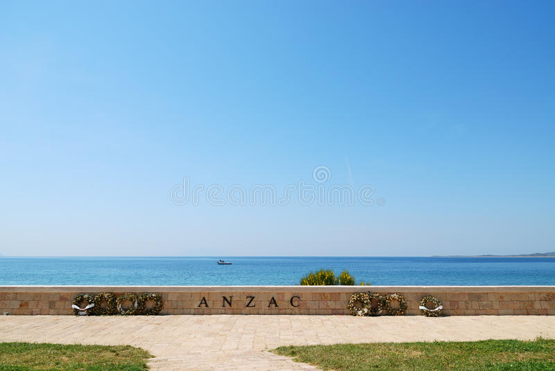 Anzac Cove Memorial in Canakkale Turkey. Very historical place for Turkish, British, Australian and New Zealander people stock photography