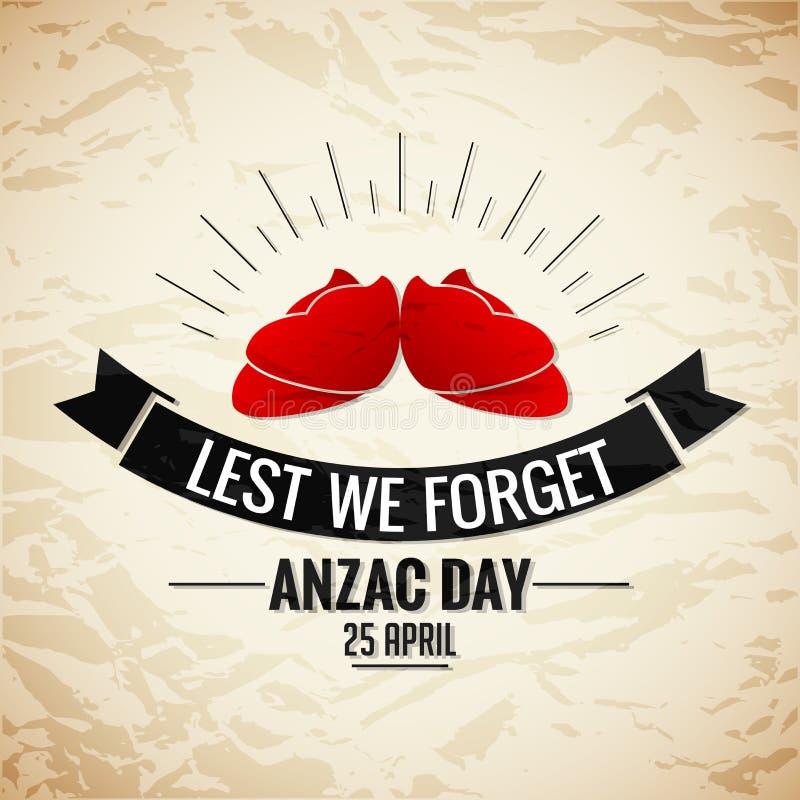 Anzac Day ilustração royalty free